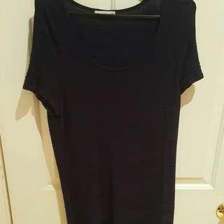 Size 16 Navy Ribbed Dress