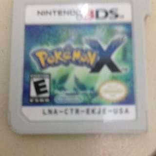 Pokemon X Catridge