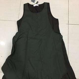 韓國專櫃品牌SUI 正韓製 假兩件拼接式洋裝