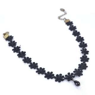 韓版黑色蕾絲項鏈