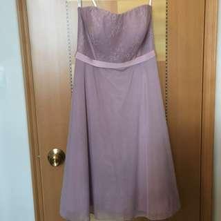 粉紫色伴娘裙晚裝裙宴會裙