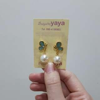 Butterfly Pearl Earrings