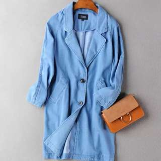 Denim Oversized Spring Coat