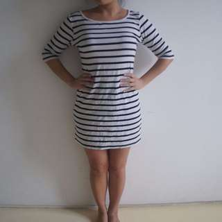 Size S-M Striped casual dress
