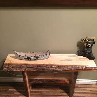 Live Edge Wormy Maple Bench