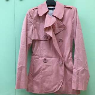 [外套]粉紅挺版西裝外套