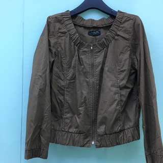 [外套]墨綠短版休閒外套