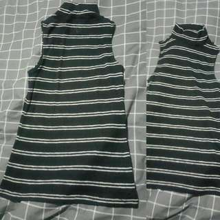Ribbed High Neck Top Size Small