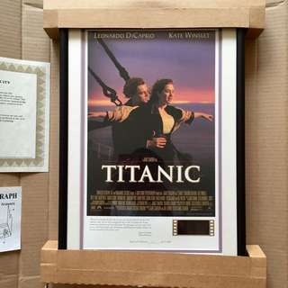 Limited Edition Titanic Movie (1997) Poster with Lighted Film Cel