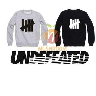 全新 UNDEFEATED 大學T 長袖 基本 素面 Logo 黑色 灰色