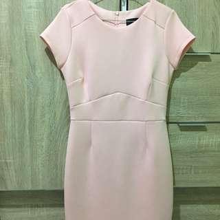 The Executive Bodycon Peach Dress