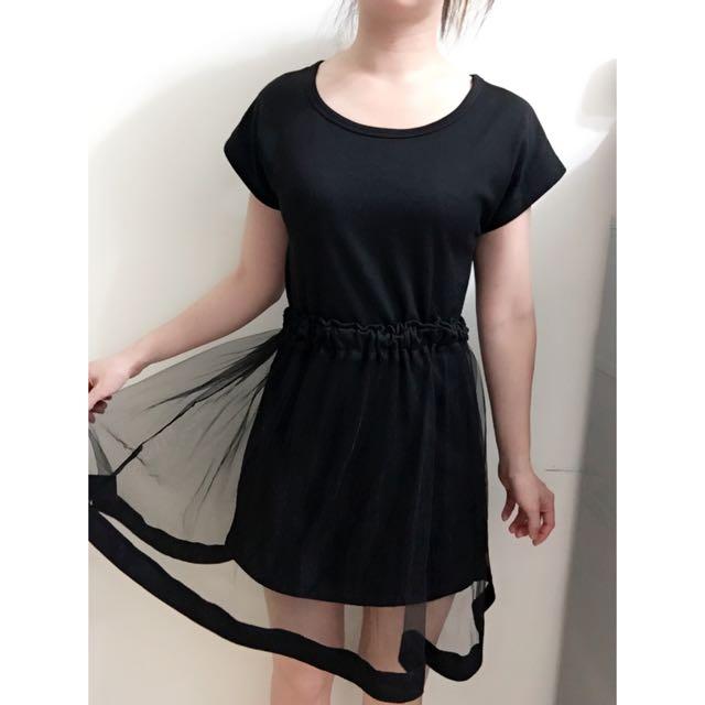 真兩件紗裙洋裝
