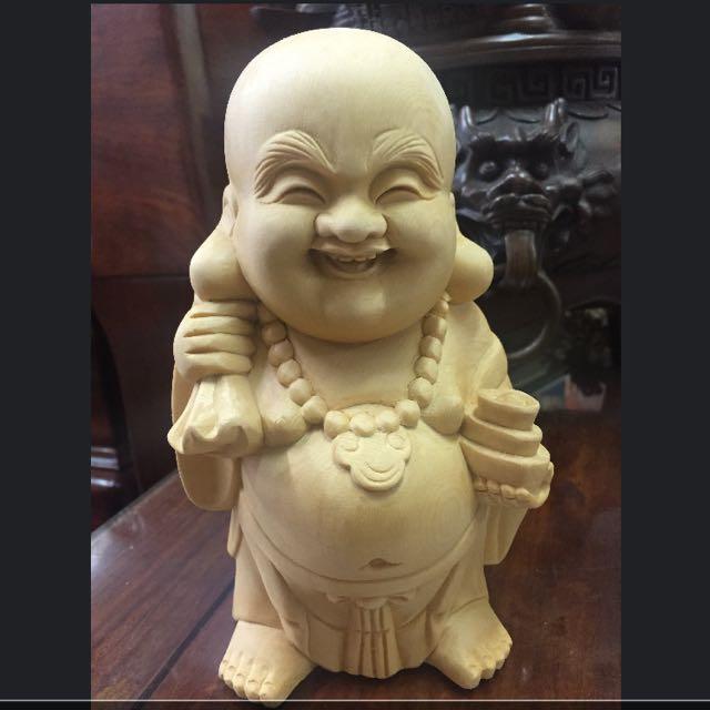 笑笑錢袋笑彌樂小佛像擺飾