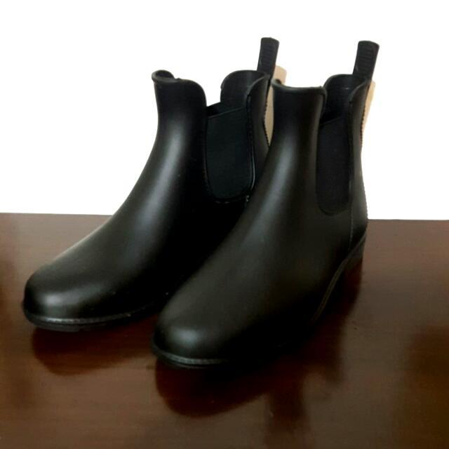 黑色短靴雨鞋 37號