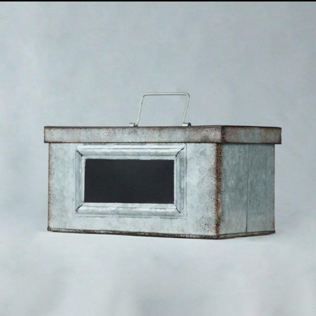 黑板鐵盒-中、大 收納盒