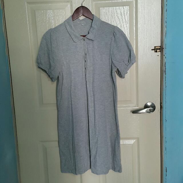 無印良品 Polo小立領舒適洋裝
