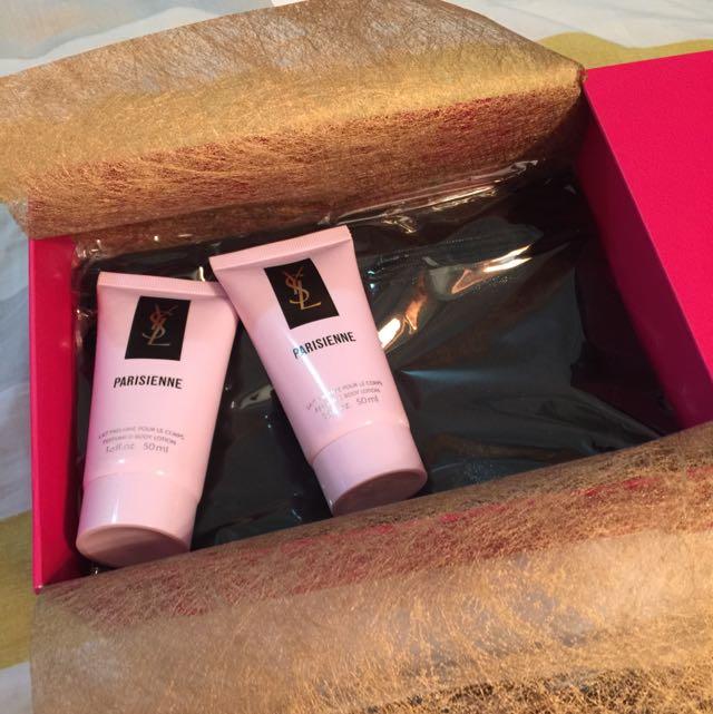 國際時尚彩妝 ysl 化妝包和身體乳