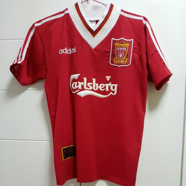 1f3290126 ADIDAS Liverpool 95/96 Home Jersey, Sports, Sports Apparel on Carousell
