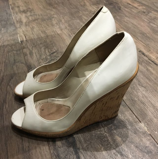 Aldo Patent White Wedges