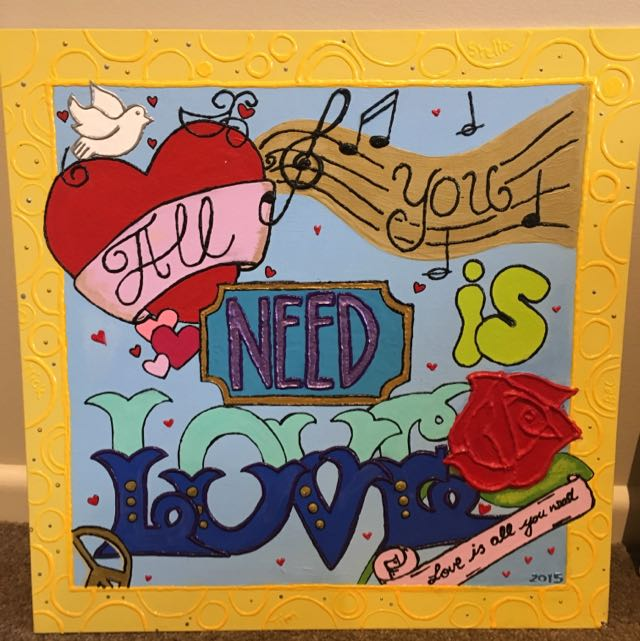 """All You Need Is Love"" Quote Canvas"