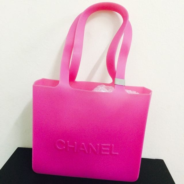 af40abd2c60 Authentic Chanel Rubber Jelly Pink