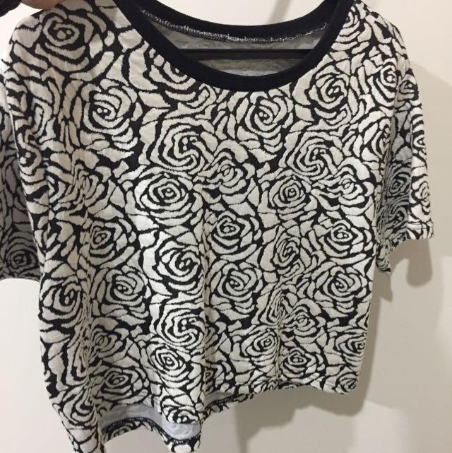 Black & White Print Top
