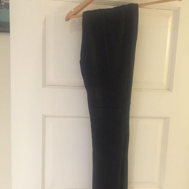 Black Portmans Pants Shimmery Look