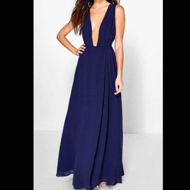 Blue Navy Formal Maxi Dress