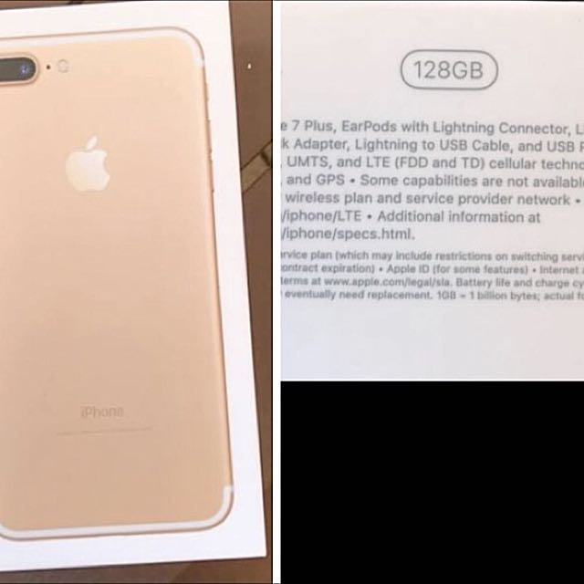 Brand New Iphone 7plus Gold 128gb