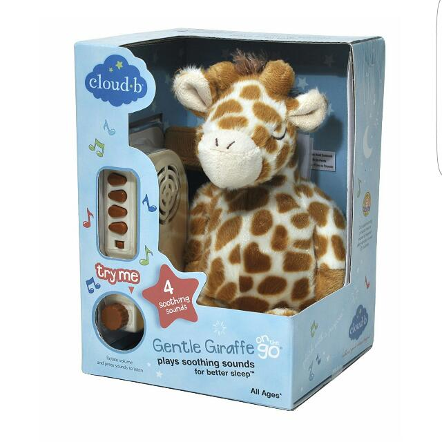 Cloud b On The Go Travel Sound Machine Soother Gentle Giraffe