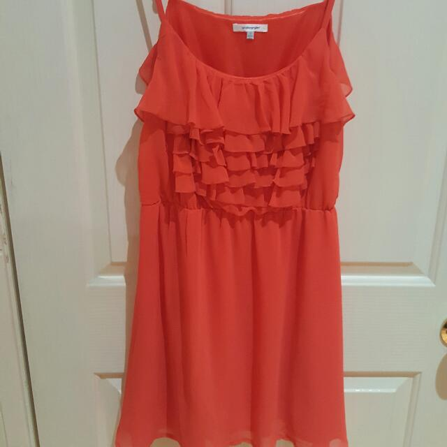 Coral Coloured Size 12 Dress