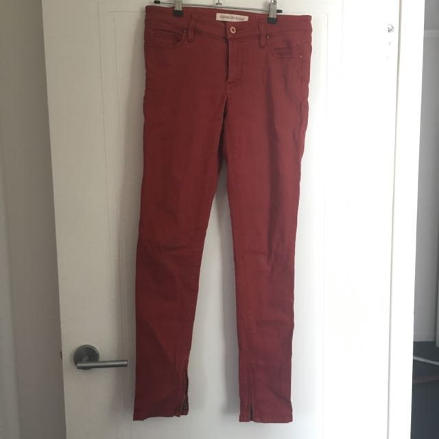 Country Road Maroon Jeans Size 10