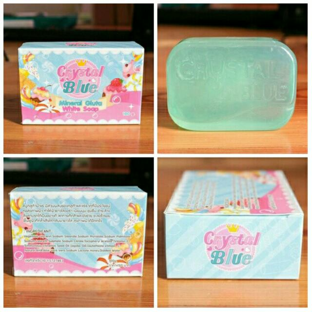 Crystal Blue Soap Glutathione Mineral Soap