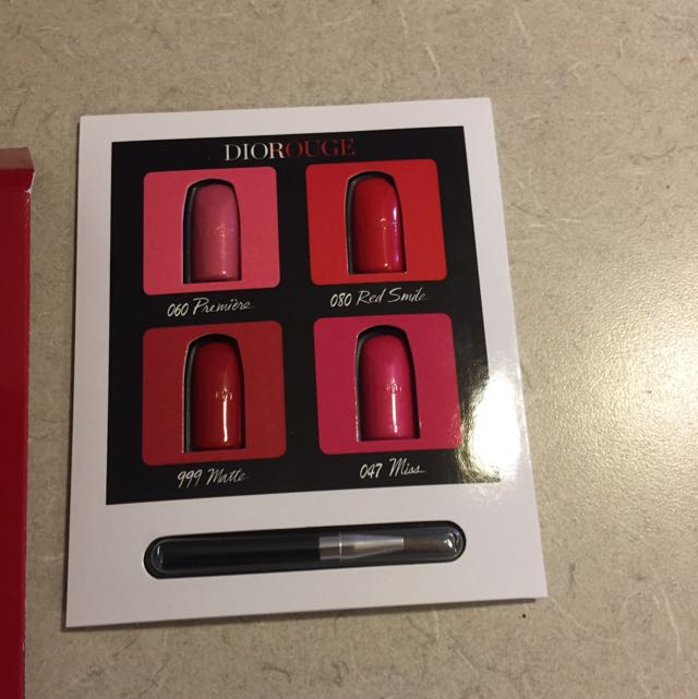 Dior rouge lip samples