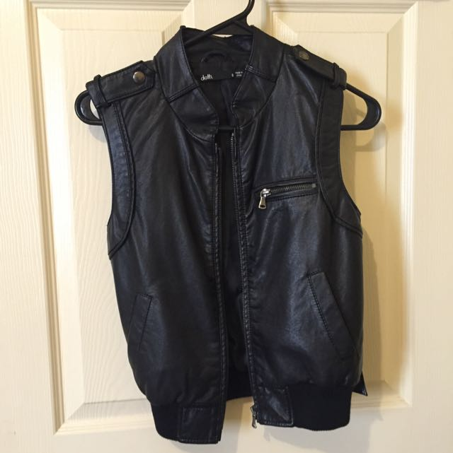 Dotti Faux Leather Vest