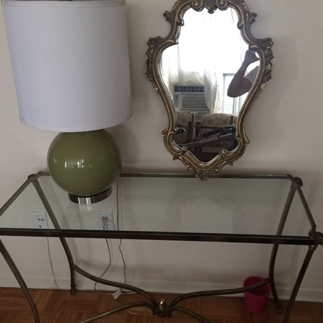 ⚡️PRICE DROPPED ⚡️Entrance/console Table With Mirror & Lamp