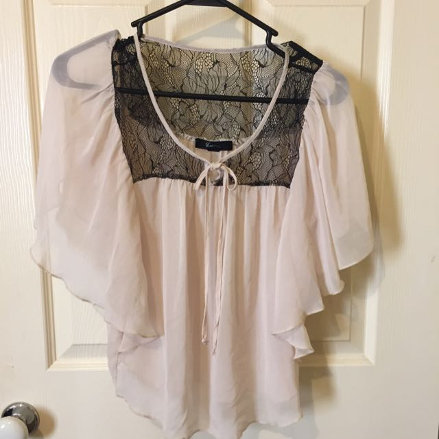 F21 Sheer Batwing Top