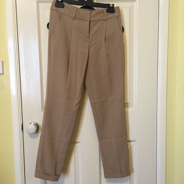 Forever 21 Tan Cigarette Pants