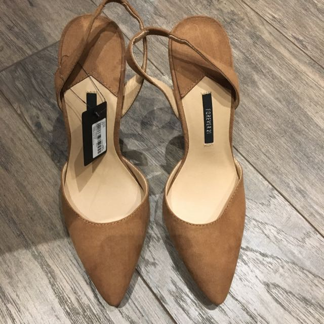 Forever 21 Tan Slingbacks