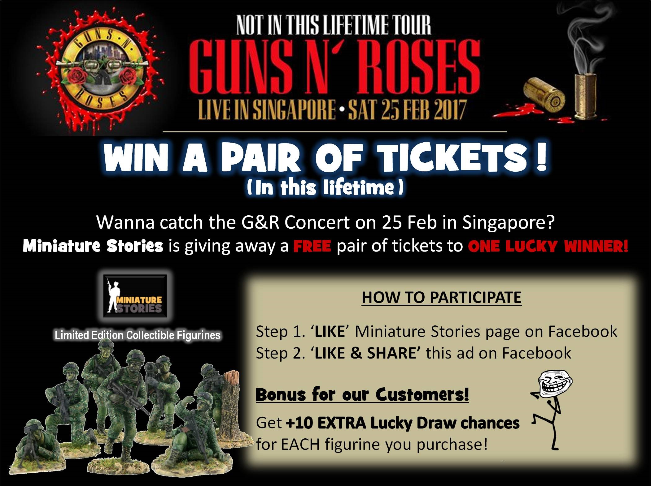 FREE Guns N' Roses Concert Tickets [Lucky Draw}, Toys