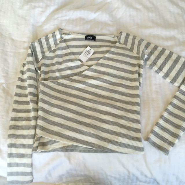 Grey Stripe Pullover