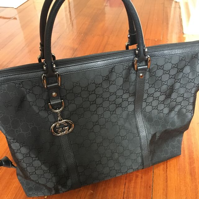 Gucci Black Campus Tote / Travel Bag