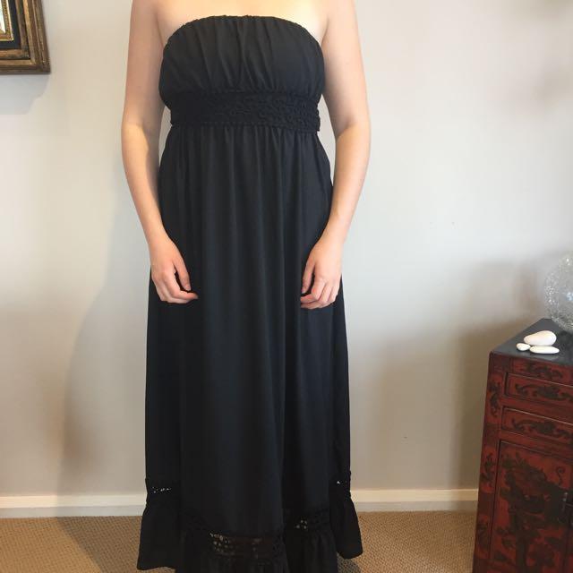 Ladakh Black Maxi Dress