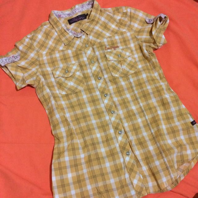 Lee Pipes Checkered blouse
