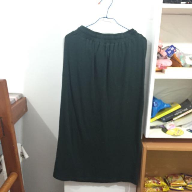 NET墨綠長裙