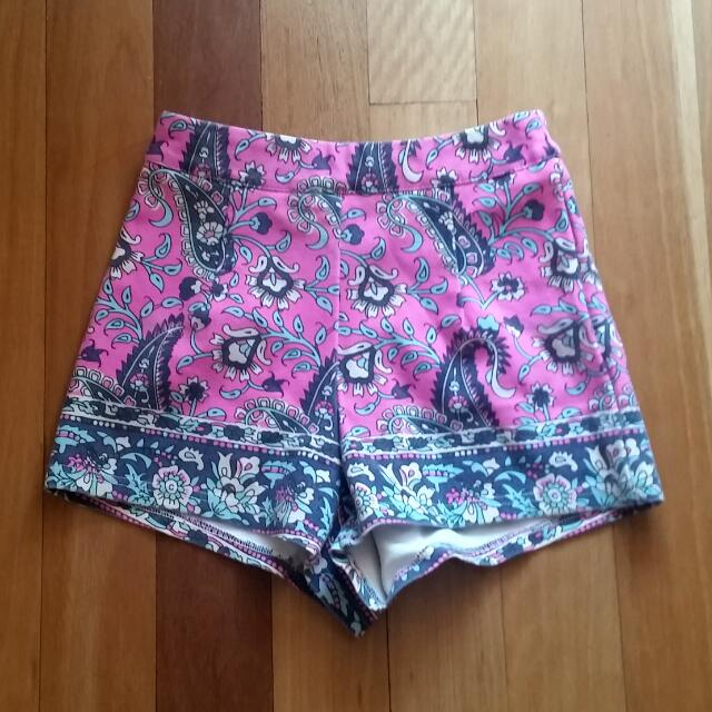 Paint It Red Printed Shorts