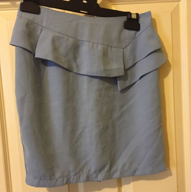 Paper Scissors Light Blue Skirt