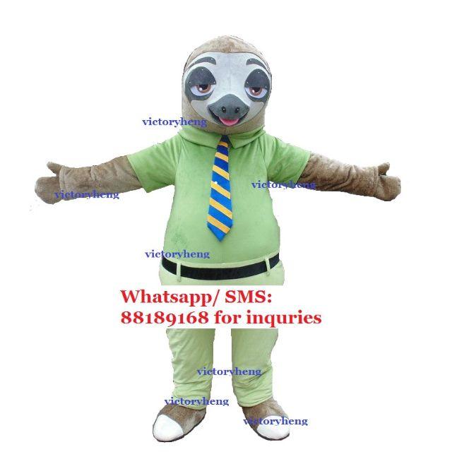 0f3359cf1576 Flash Sloth (Zootopia) Mascot Costume for rental