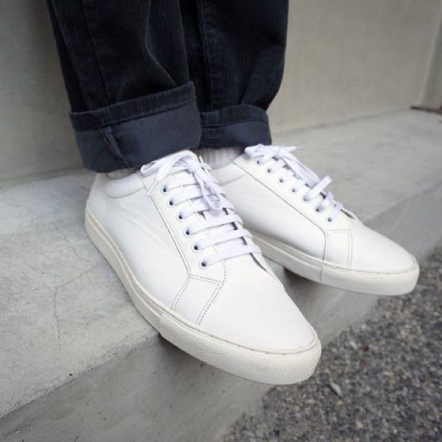 plain me 白鞋 皮革