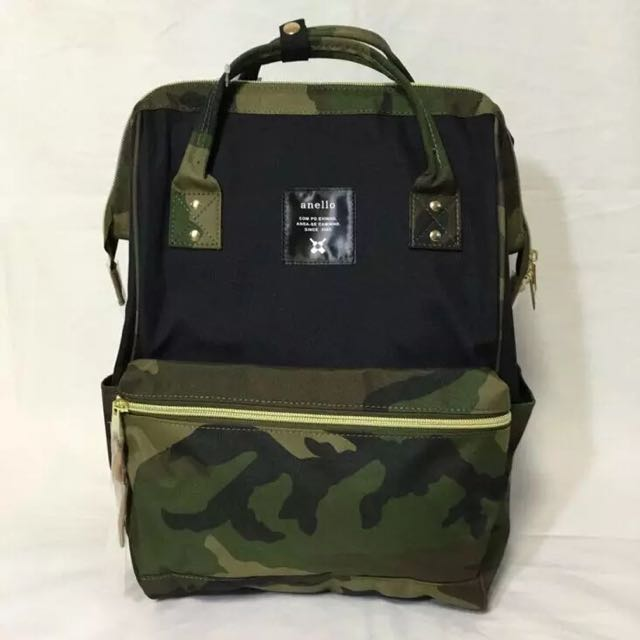 e8040319724 Preorder: Anello Polyester Large Backpack AT-B0193A Black/camo, Bulletin  Board, Preorders on Carousell
